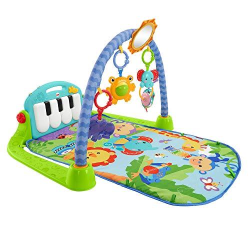 Fisher-Price BMH49 - Rainforest Piano-Gym Baby Spielbogen, mit Musik und Licht inkl. Spielzeug grün Babyerstausstattung, ab Geburt (Baby Gym)