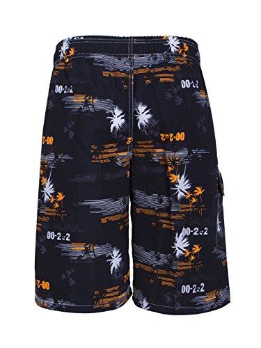 Asvert Strand Shorts Stämme Muster Schwimmen der Männer schnell trocknende Druck Palm Beach Badeshorts Orange