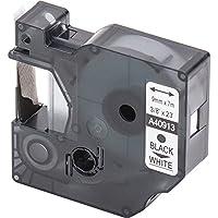 1x Cartucho para impresión de etiquetas compatible con Dymo 40913 D1 en negro sobre blanco 9 mm x 7 m para la LabelManager LabelPoint LabelWriter por ejemplo, para DYMO LabelPOINT & LabelManager LM100 / LM120P / LM150 / LM160 / LMPC2 / LM200 / LM210D / LM220P / LM260 / LM280 / LM300 / LM350 / LM400 / LM260P / LM350D / LM360D / LM420P / LM450 / LP350 / LP100 / LP150 / LP200 / LP250 / LP300 / PC / PC2 / PnP / PnP WiFi / LW400 / LW450 Duo / Pocket 1000 / 1000Plus / 2000 / 3500 / 5000 / 5500