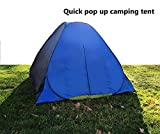 LWVX Polyester Pop up Open Large Automatic Instant Setup 3-4 Person Tent