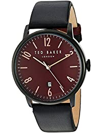 29557e8fa3d4 Ted Baker Men s Analog Japanese-Quartz Watch with Leather Strap 10030754