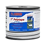 Fi-Shock Polytape Highly Visible Horses Animals Electrical Conductor White 656Ft