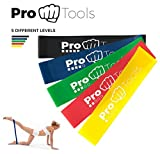 ProTools Resistance Bands | Set consisting of 5 Resistance Bands made of 100% natural Latex, perfect for Fitness, Gym and Physical Therapy | FREE EXERCISES + WORKOUTS | Elastic Rubber Bands for a complete Full-Body Workout