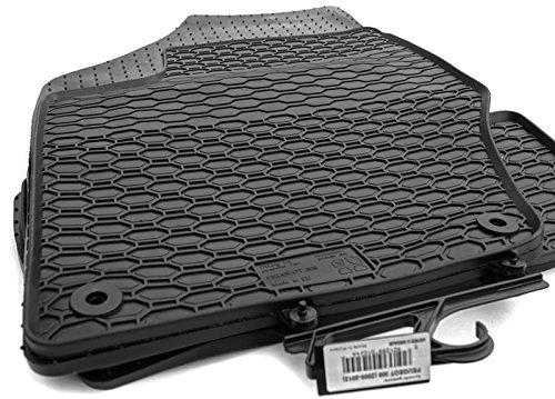 Tapis de sol en caoutchouc pour voiture - Qualité d'origine - 4 pièces - Noir - kh Teile