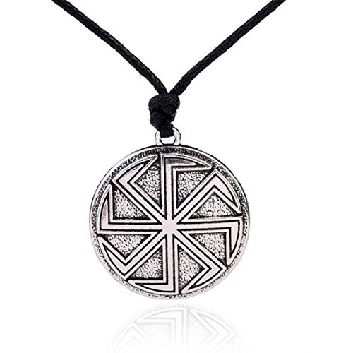 Amuleto eslavo Wicca Sigil talismán antiguo Kolovrat símbolo colgante Sol Rueda collares joyas.