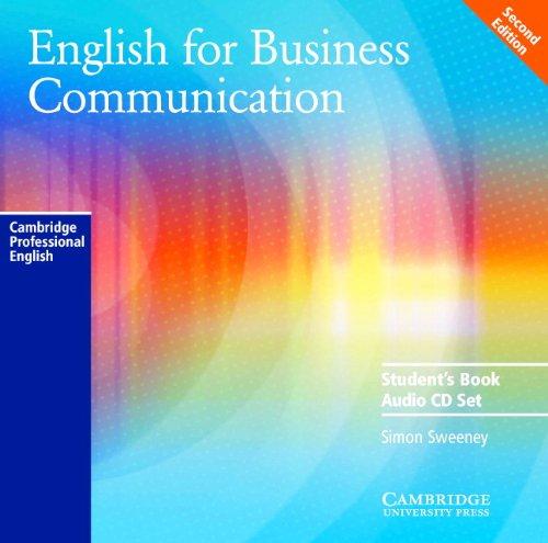English for Business Communication Audio CD Set (2 CDs) (Cambridge Professional English) por Simon Sweeney