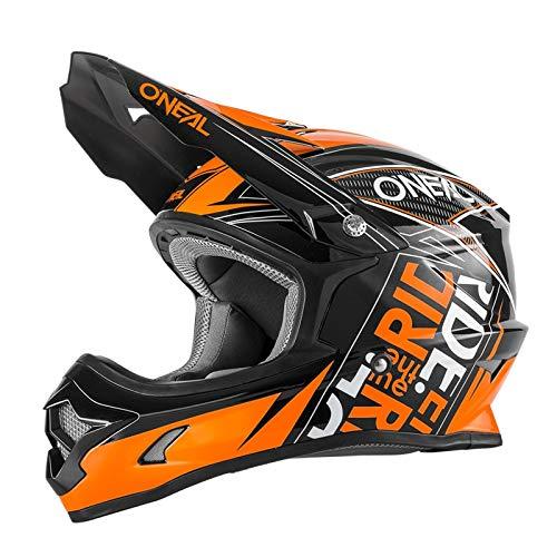 O'Neal 3 Series Youth Motocross Enduro Kinder MTB Helm Fuel schwarz/orange 2018 Oneal: Größe: L (51-52cm)