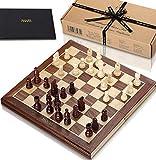 Jaques Faltschachset 15 Zoll Komplett mit 3-Zoll-Schachfiguren - Qualitätsschach seit über 150 Jahren