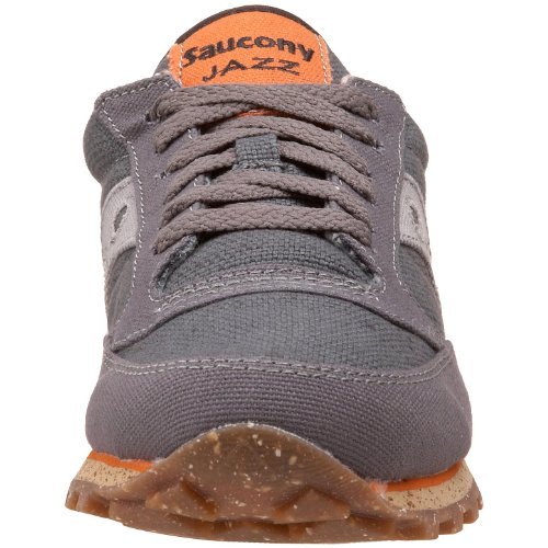 Saucony Originals Womens Jazz Low Pro Vegan Sneaker,Black,10 M US Charcoal/Orange