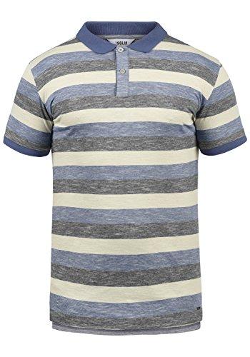 !Solid Mhicco Herren Poloshirt Polohemd T-Shirt Shirt Mit Polokragen 100% Baumwolle, Größe:L, Farbe:Marlin (2800) - Herren Pique Polo Solid