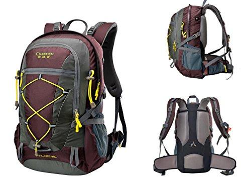 Outdoor trekking zaino ultra leggero 40L equitazione usura spalla-viaggi tour borsa impermeabile copertina , black 40 litres red 40 litres