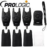 Prologic BAT+ Bite Alarm Set 3+1-3 Bissanzeiger + 1 Receiver zum Karpfenangeln, Karpfenbissanzeiger zum Angeln auf Karpfen