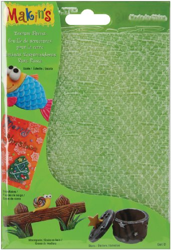 makins-usa-plastic-clay-texture-sheets-7-inch-x-55-inch-set-d-scalesnowflakewoodgrainandstars