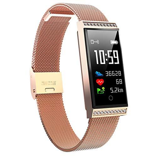 Knowin Smartwatch Fitness Uhr Damen Herren Smart Uhr Fitness Tracker Armbanduhr Intelligente Multifunktion IP68 mit Schrittzähler Schlaftracker Kompatibel für IOS Android Metall Band Schwarzes