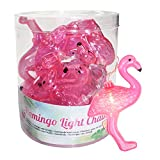 Rosa Flamingo Girlande Lichterkette 10 LEDs batteriebetrieben Deko Party Licht Tropical Sommer