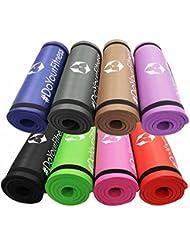 """Fitness shaktí """"Yamuna""""/extra-gruesa y suave, ideal para pilates, fitness y Yoga, dimensiones: 183 x 61 x 1,5 cm/en muchos coloures disponibles. Marrón marrón Talla:184 x 61 x 1,5cm"""