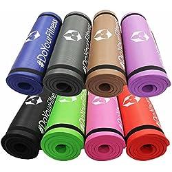 Fitness shaktí Yamuna/Extra-Gruesa y Suave, Ideal para Pilates, Fitness y Yoga, Dimensiones: 183 x 61 x 1,5 cm/en Muchos Coloures Disponibles. Marrón marrón Talla:184 x 61 x 1,5cm