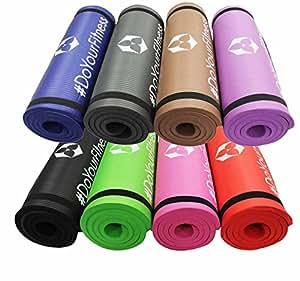 #DoYourFitness Exercise mat »Yamuna«/EXTRA THICK (1,5 cm!) & SOFT, High-Density gymnastics mat. Ideal mat for Yoga, Pilates, Gym. Size: 183 x 61 x 1,5cm, pink