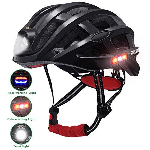 Unisex Radfahren Nacht Sicherheit Reiten Ultralight Helm verstellbar leicht Bike Mountain Road Fahrrad MTB Helm für Erwachsene Männer und Frauen, schwarz