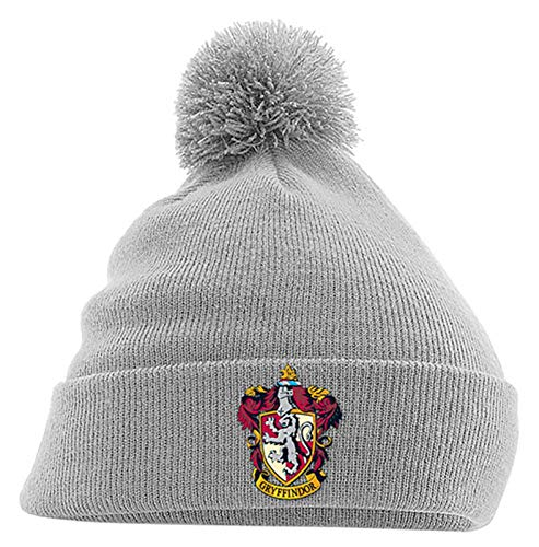 Harry Potter Mütze Beanie Gryffindor House Crest Hogwarts Nue offiziell Grau