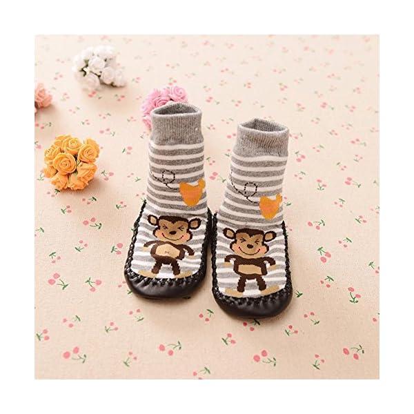 K-youth® 1 Pares Invierno Bebé Calcetines Algodón Calcetines de piso Antideslizante Para Bebé Niños Niñas 0-2 Años 2