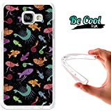 BeCool® Fun - Coque Etui Housse en GEL Flex Silicone TPU Samsung Galaxy A5 2016 , protège et s'adapte a la perfection a ton Smartphone et avec notre design exclusif.Psychédélisme aquatique
