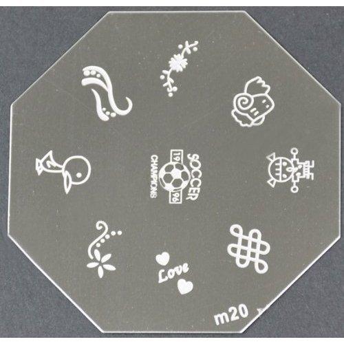 Nail Art emboutissage des tôles - M01 CODE : M20-plaque