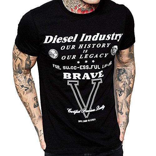 Diesel Maglietta cl-t-fracas Maglietta Uomo maniche corte nero nero L