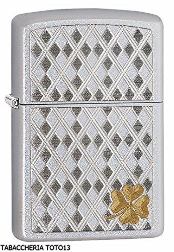 14vernis-semi Permanent Messing Chrom Feuerzeug Zippo, 5.70x 3.70x 1,2cm