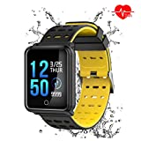 Pulsera Inteligente Deportiva,AURSEN Impermeable IP68 Reloj Actividad Inteligente con Monitor de Ritmo Cardíaco,Podómetro,Calorías,Recordatorio de Vibración del Mensaje Compatible Android y iOS