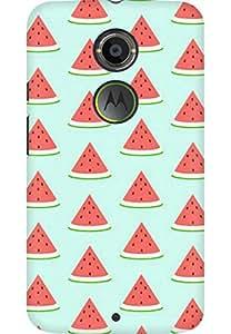 AMEZ designer printed 3d premium high quality back case cover for Moto X 2nd Gen. (Watermelon Pattern)