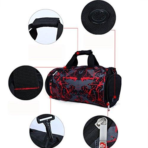 YAAGLE Sporttasche herren groß Reisetasche Reisegepäck multi Umhängetasche Schultertasche für Fitness tasche für Wanderung, Trekking, Ausflug und Dienstreise weiß