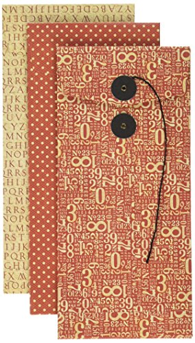 Graphic 45Politik Briefumschläge, Papier, Rot, Groß