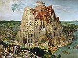 Time4art Pieter Bruegel der Ältere Großer Turmbau zu Babel Wand Print Canvas Bild auf Keilrahmen Leinwand verschiedene Größen (120x80cm)