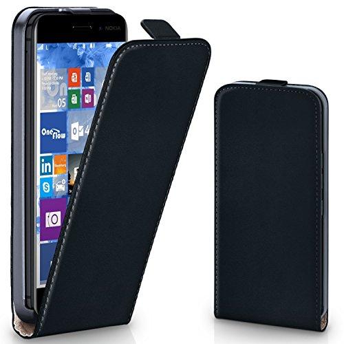 Nokia 6 Hülle Schwarz [OneFlow 360° Klapp-Hülle] Etui thin Handytasche Dünn Handyhülle für Nokia 6 Case Flip Cover Schutzhülle Kunst-Leder Tasche