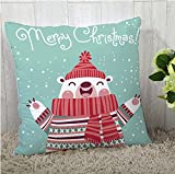 #6: The Purple Tree Merry Christmas Cushion Cover (16x16 inches) 1 pc , christmas cushion covers , christmas decorations, christmas gifts , christmas décor STFC00373
