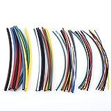 70pcs 2: 1 Wärmeschrumpfschlauch Polyolefin 7 Farben Halogen-freies schrumpfbares Schlauch-Hülsen-Verpackungs-Draht-Kabel-Installationssatz