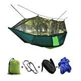 Firstwish Double Hammocks Ultralight Outdoor Mosquito Net Hammocks Tent for Camping Travel (Green Mosquito hammock)