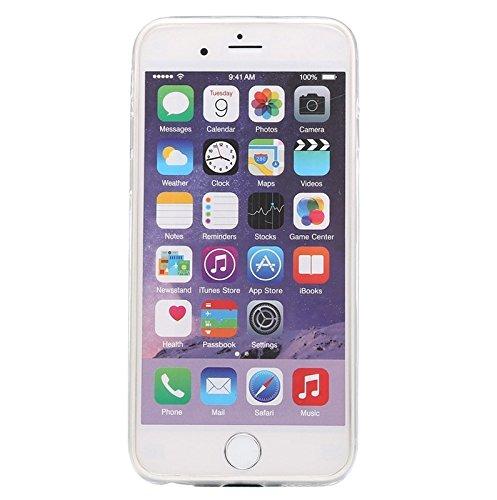 BING Für IPhone 6 / 6S, 0.3mm Ultradünner transparenter weicher TPU schützender Fall BING ( Color : Blue ) Transparent