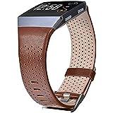 V-MORO Fitbit Blaze Ionic Correa Piel, pequeño, Piel auténtica Correa de Banda de Reloj Inteligente Pulsera Pulsera de Repues