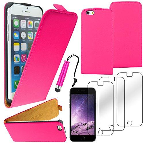 """ebestStar - pour Apple iPhone 6S 6 Plus écran 5,5"""" - Housse Coque Etui à rabat PU cuir ULTRA FIN (ultra slim case) + Mini Stylet tactile + 3 Films protection écran, Couleur Violet [Dimensions PRECISES Rose"""
