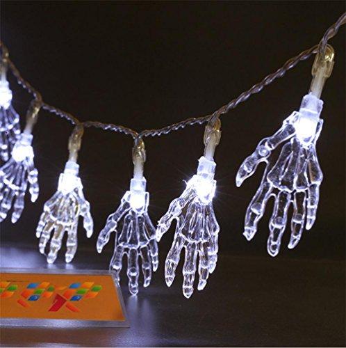 OOFAY 2PCS Halloween-Dekoration 10 Meter langes LED beleuchtet grelles Schnur , (Dekoration Outdoor Beleuchteter Halloween)