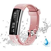 Lintelek Activity Tracker, Fitness Trackers Pedometer Smart Watch, Fitness Watch Smart Bracelet with Activity Recording and Calorie Counter, Sedentary Reminder for Men, Women and Kids