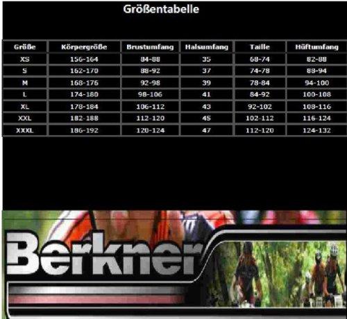 Berkner Herren kurze Fahrrad Hose Radhose KEN mit Sitzpolster Schwarz/Rot