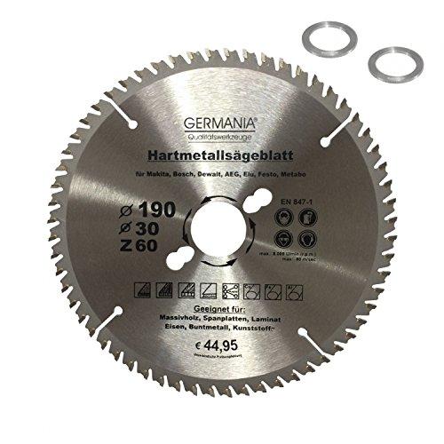 Extreme HM Multi Sägeblatt Universal Kreissägeblatt Nagelfest 190mm Zähne 60