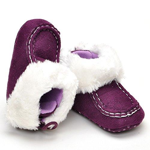 Bébé au chaud à lacets Bottes - Rose - rose, Violet - violet