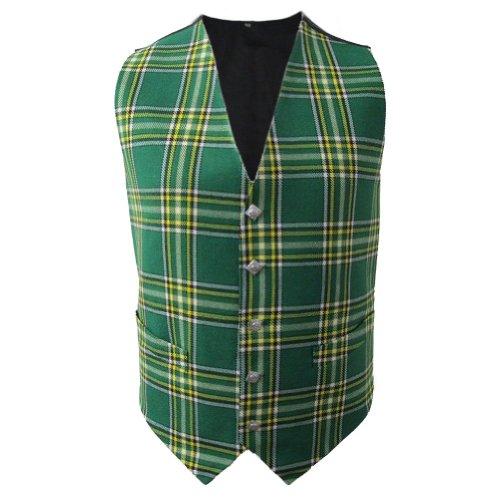 Kostüm Männer Nationalen - Tartanista - Herren Weste mit Tartanmuster - irischer Stil - Irish National - Brust: 102 cm