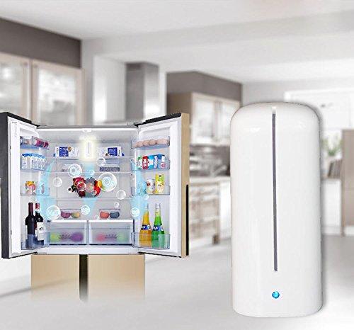 Ozon Ionischer Luftreiniger für Kühlschrank Auto Aufhalten Kleiderschränken bei Haustieren Ionisator Raumluftreiniger Unangenehme Gerüche Beseitigen für Schuhschränke Küche Portable Kleine Mini