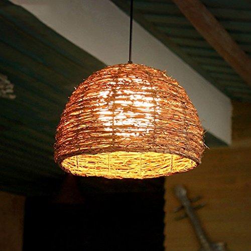 Kronleuchter, Kreative Restaurant Leuchten Rattan Kronleuchter Coffee Bar Bar Farm Kronleuchter Neue (Bars Farm)