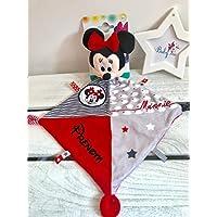 Doudou personnalisé fille Minnie Disney prénom bébé